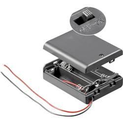 Držalo za baterijo Goobay z 2 kabloma za 3 Mignon (D x Š x V) 68.5 x 48 x 18.7 mm