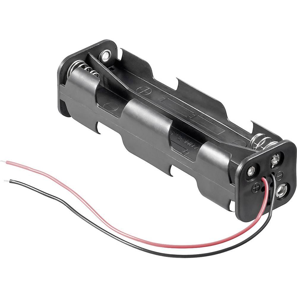 Držalo za baterijo Goobay Kabel (D x Š x V) 108.5 x 31.5 x 29.5 mm