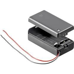 Držalo za baterijo Goobay z 2 kabloma za 9V-blok (D x Š x V) 68.4 x 33.2 x 25.6 mm