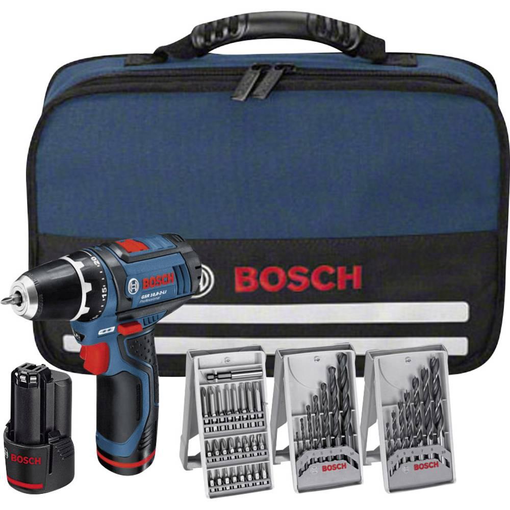 Bušilica s odvijačem na baterijuGSR 10,8-2-LI Bosch 10.8 V 1.5 Ah Li-Ion uklj. 2. baterija, uklj. pribor, uklj. torba