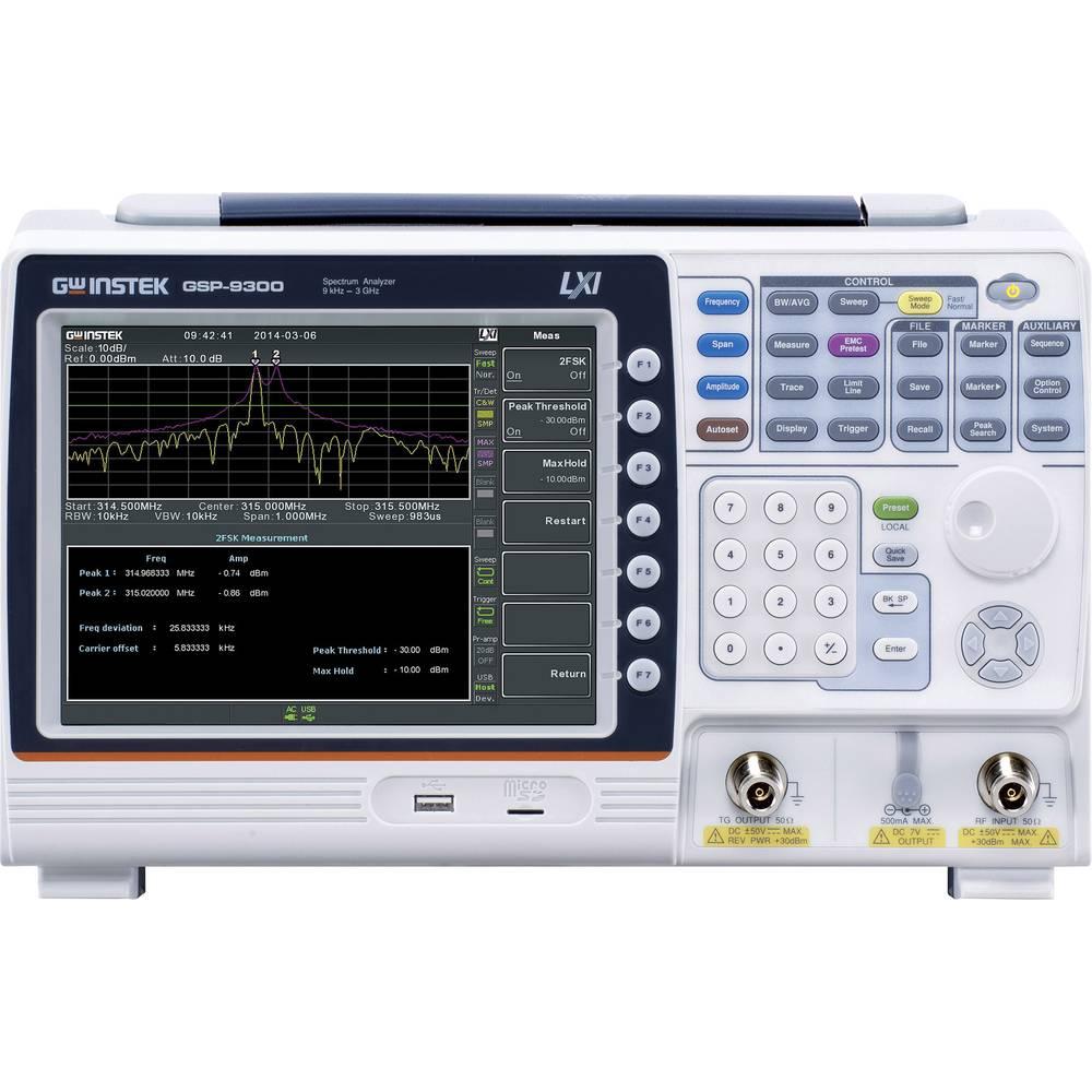 Spektarski analizator GW Instek GSP-9300 TG frekvencijsko područje 9 kHz - 3 GHz, pojasne širine (RBW) 1 Hz - 1 MHz (1-3-10)