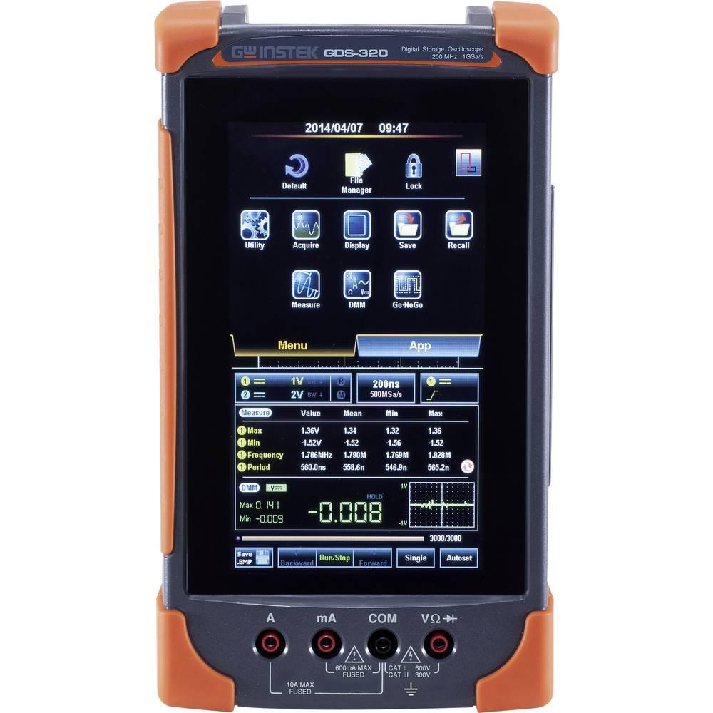 Ročni osciloskop (Scope-Meter) GW Instek GDS-307 2-Kanal 1 GSa/s 5 Mpts kalibracija narejena po delovnih standardih, ročna napra