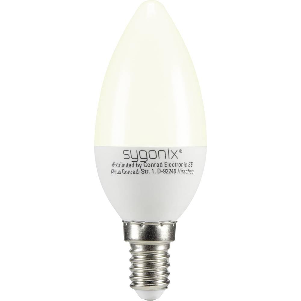 LED žarnica E14 oblika sveče 3 W = 25 W topla bela (premer x D) 37.50 mm x 99 mm EEK: A+ Sygonix 1 kos
