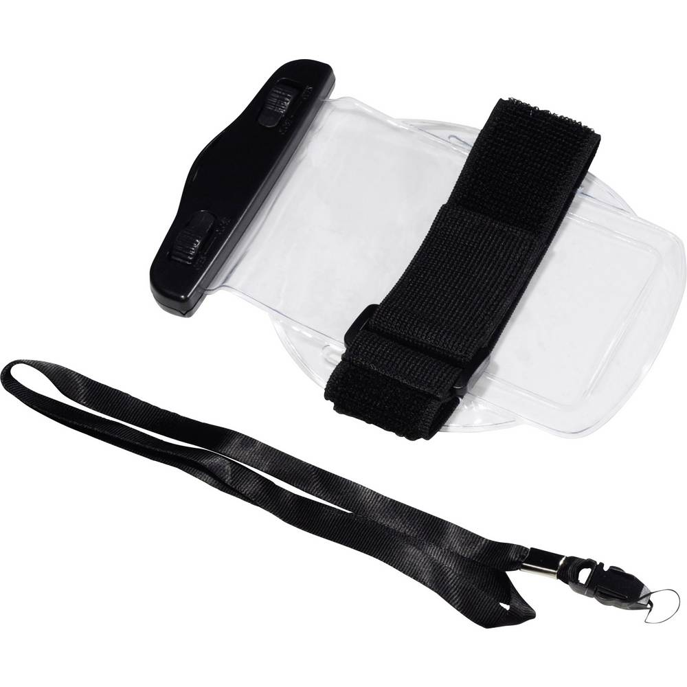 Vodotesna vrečka (Š x V) 95 mm x 175 mm črna, prozorna