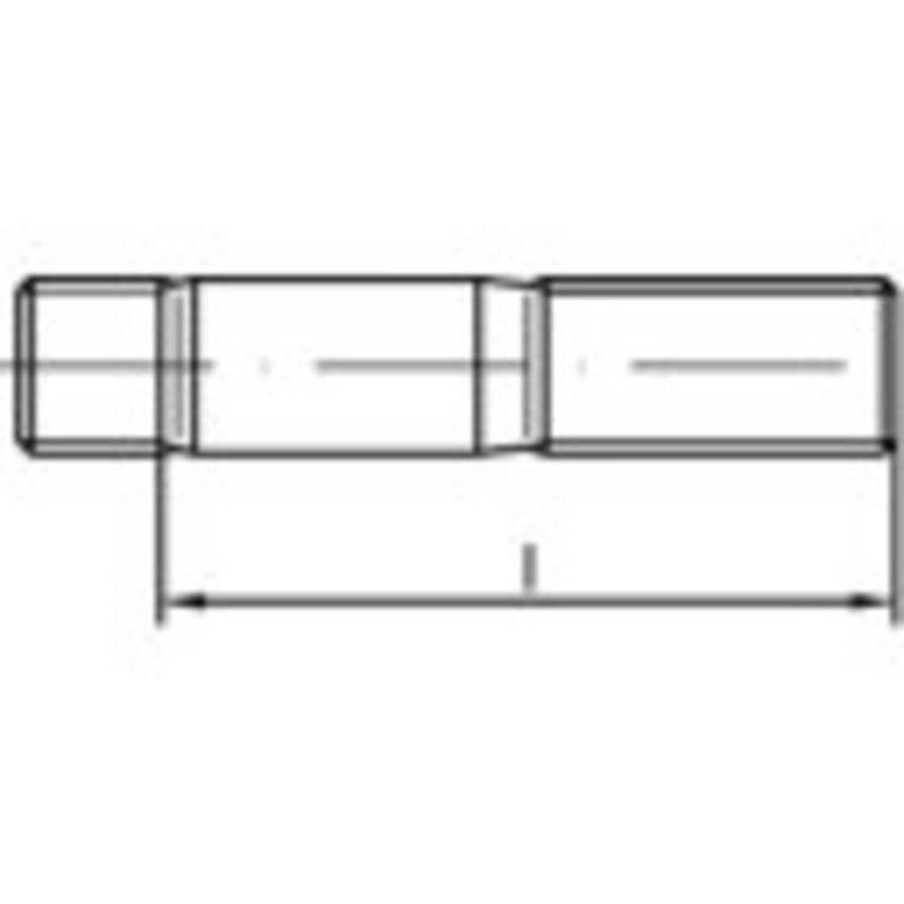 Stiftskruvar TOOLCRAFT M12 55 mm DIN 938 Rostfritt stål A2 10 st