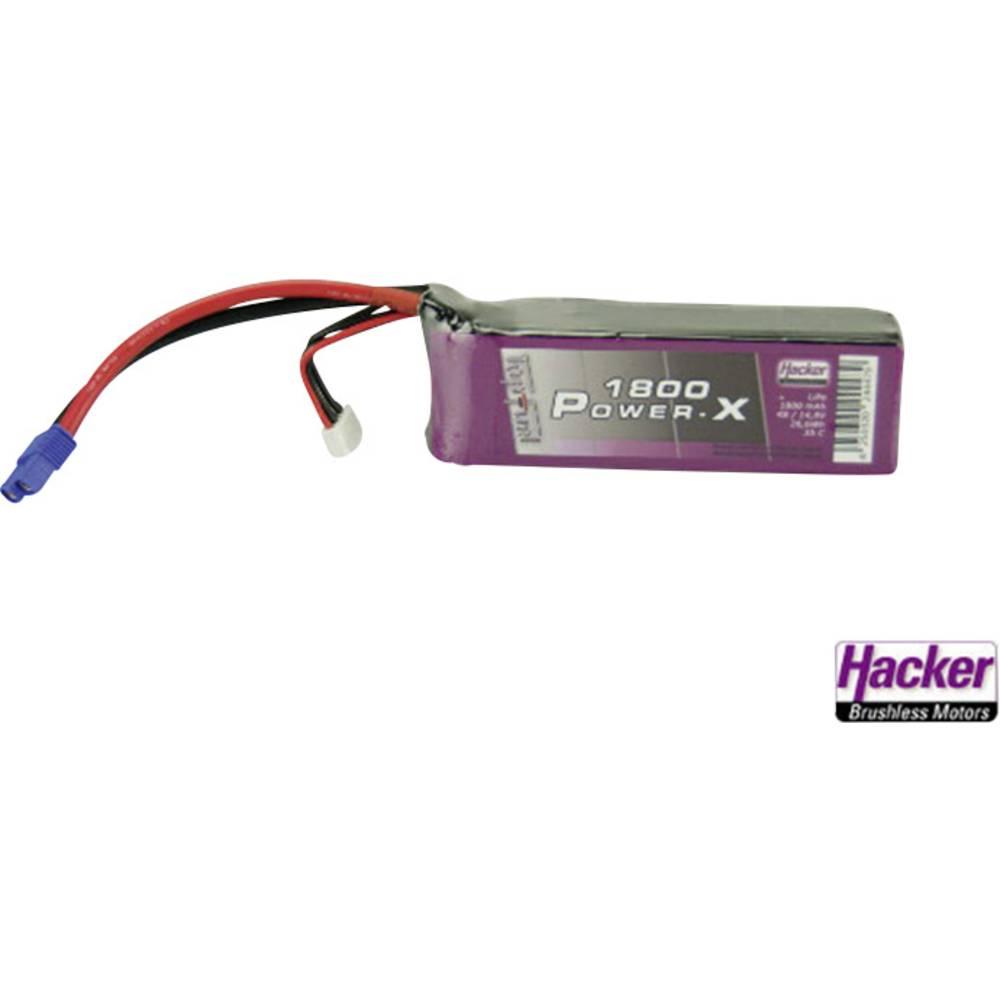 Hacker LiPo akumulatorski paket za modele 14.8 V 1800 mAh Število celic: 4 35 C Mehka torba EC3