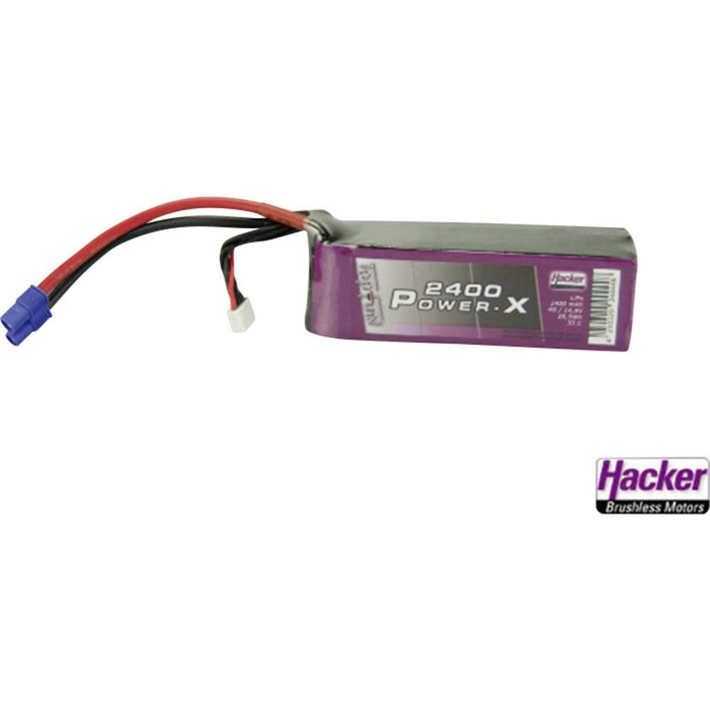 Baterijski paket za modele (LiPo) 14.8 V 2400 mAh 35 C Hacker EC3