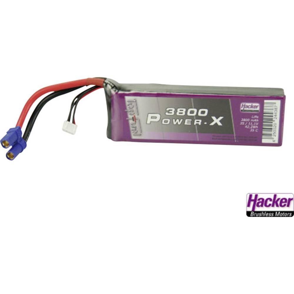 Baterijski paket za modele Hacker (LiPo) 11.1 V 3800 mAh 35 C, EC5 utični sustav