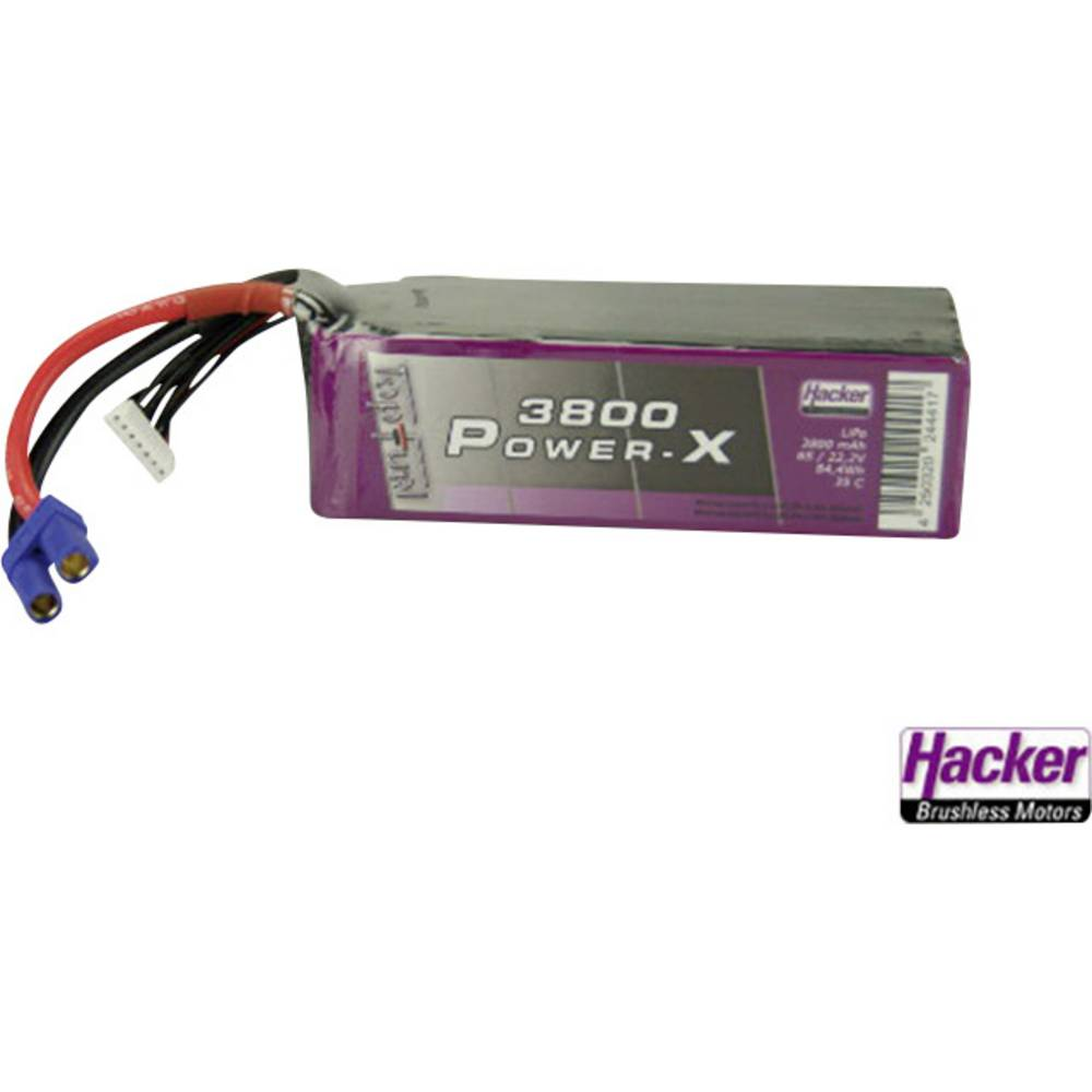 Baterijski paket za modele (LiPo) 22.2 V 3800 mAh 35 C Hacker EC5