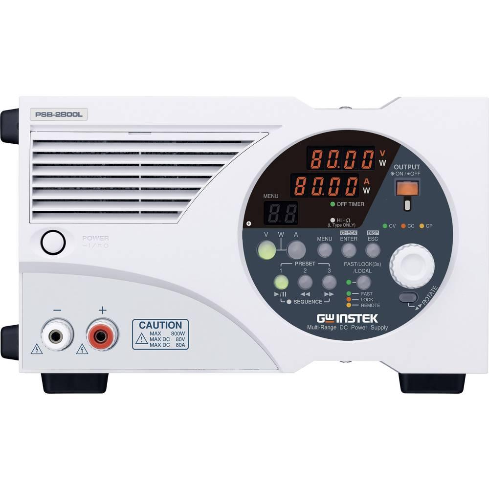 Nastavljiv laboratorijski napajalnik GW Instek PSB-2800L 0 - 80 V/DC 0 - 80 A 800 W USB, RS-232, analogni, programljiv, OVP