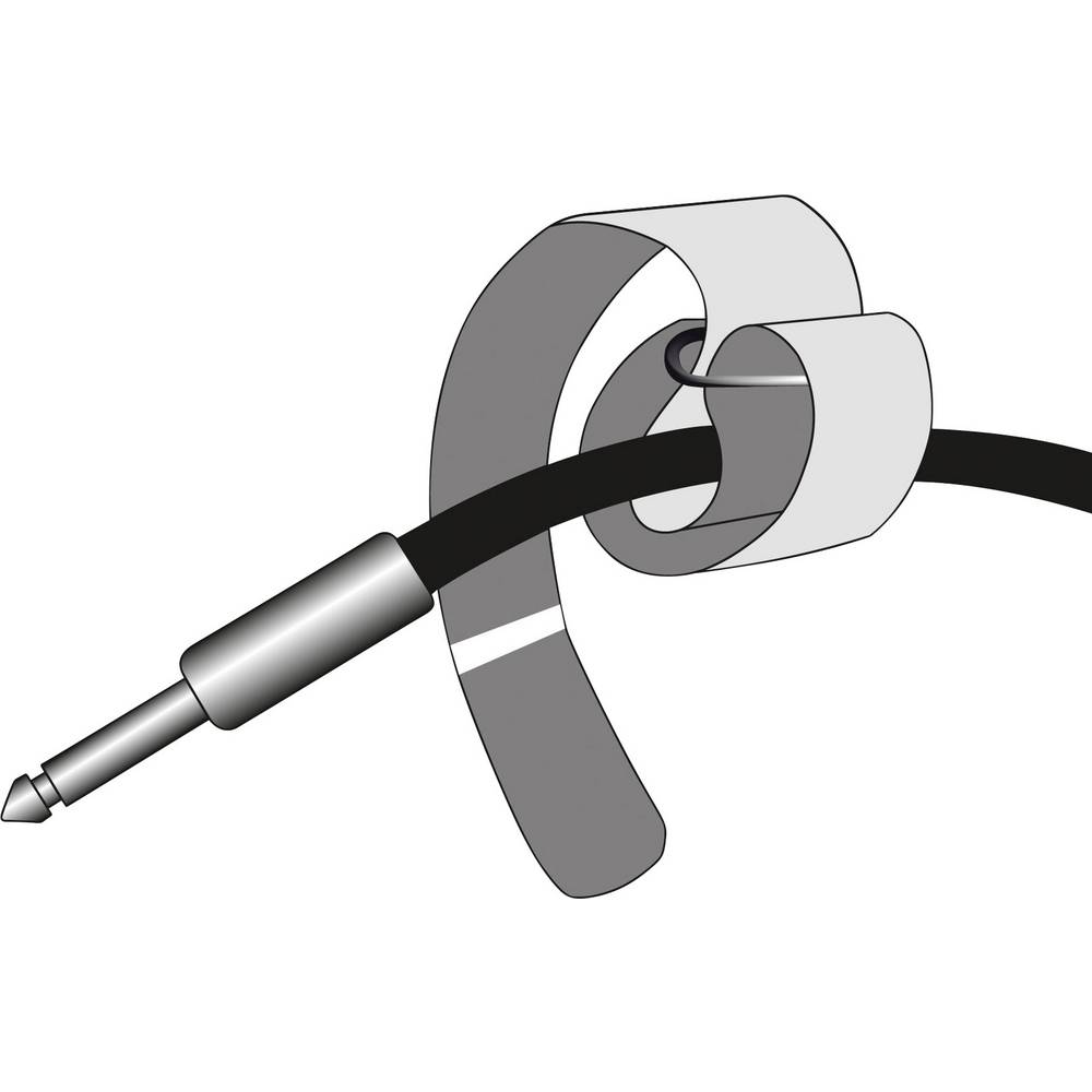 Vezica za kablove s čičkom i remenom Adam Hall VR4040BLK prianjajući i mekani dio (D x Š) 400 mm x 38 mm crna 1 komad