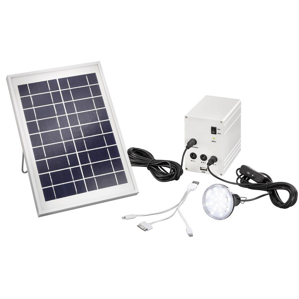Solarni komplet uklj. akumulator, priključni kabel, LED svjetiljka Esotec 03005 snaga 5 W