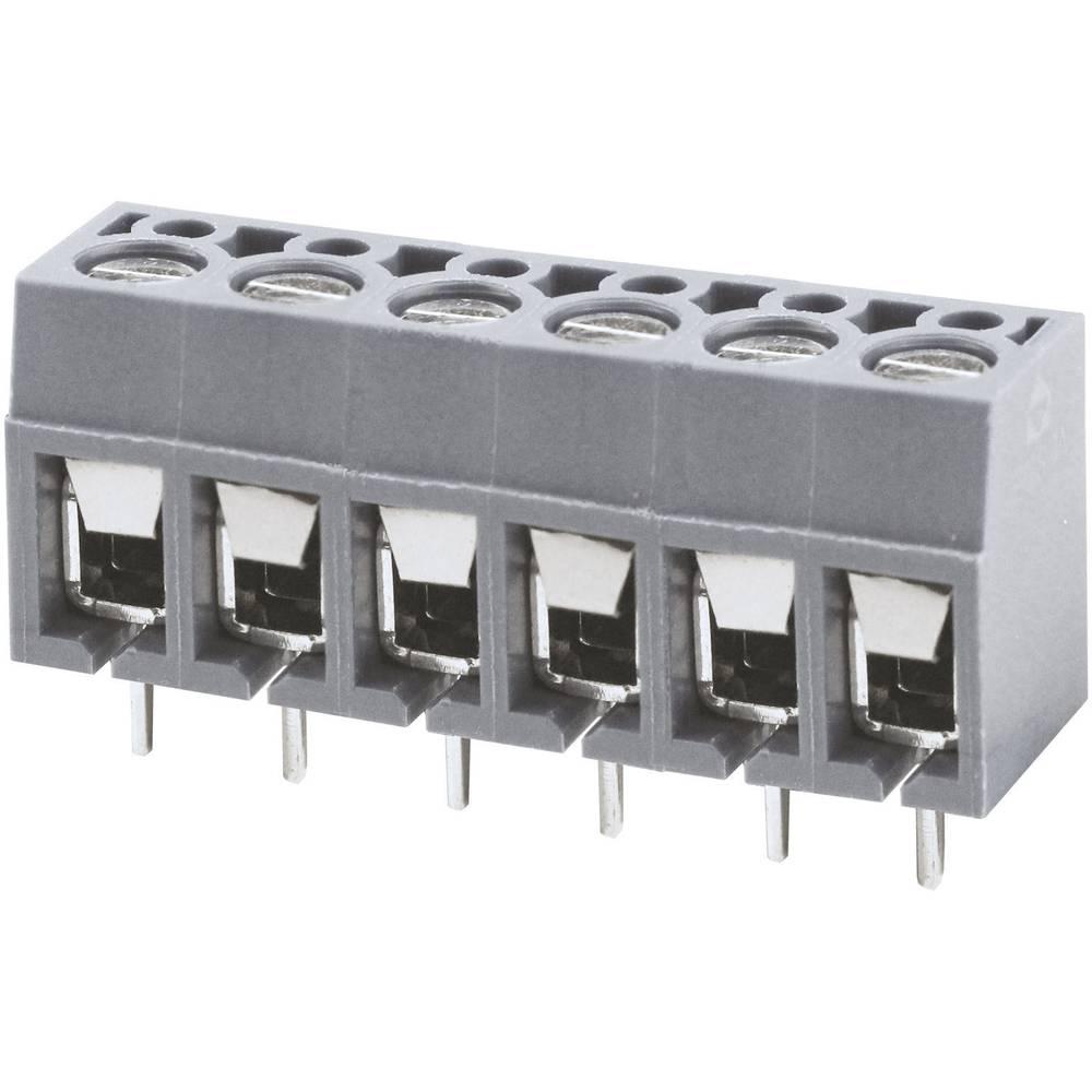 Skrueklemmeblok Degson DG305-5.0-02P-11-00AH 2 mm² Poltal 2 Grå 1 stk