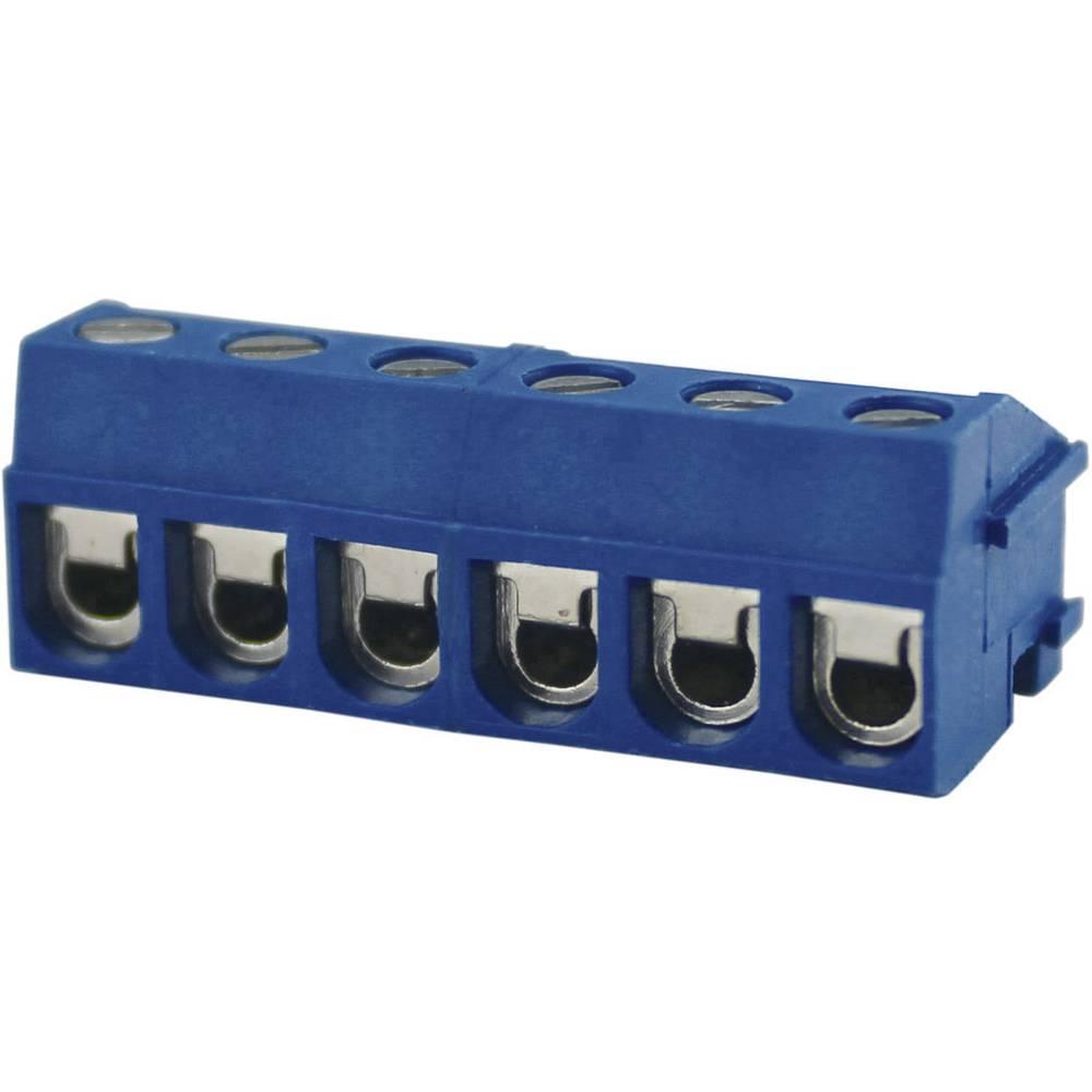 Skrueklemmeblok Degson DG332K-5.0-03P-12-00AH 2 mm² Poltal 3 Blå 1 stk