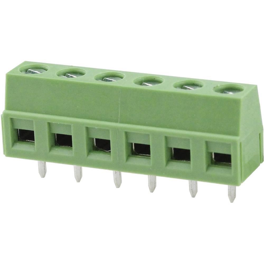 Skrueklemmeblok Degson DG127-5.08-02P-14-00AH 2.08 mm² Poltal 2 Grøn 1 stk