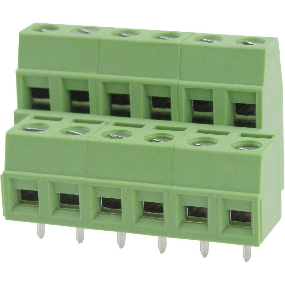 Skrueklemmeblok Degson DG127A-5.08-06P-14-00AH 2.08 mm² Poltal 6 Grøn 1 stk