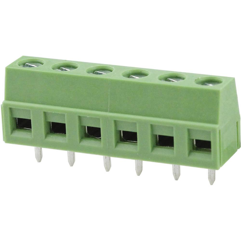 Skrueklemmeblok Degson DG127-5.0-02P-14-00AH 2.08 mm² Poltal 2 Grøn 1 stk