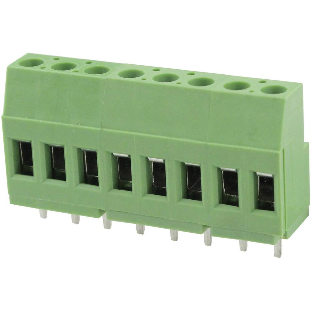 Skrueklemmeblok Degson DG129-5.08-02P-14-00AH 3.31 mm² Poltal 2 Grøn 1 stk