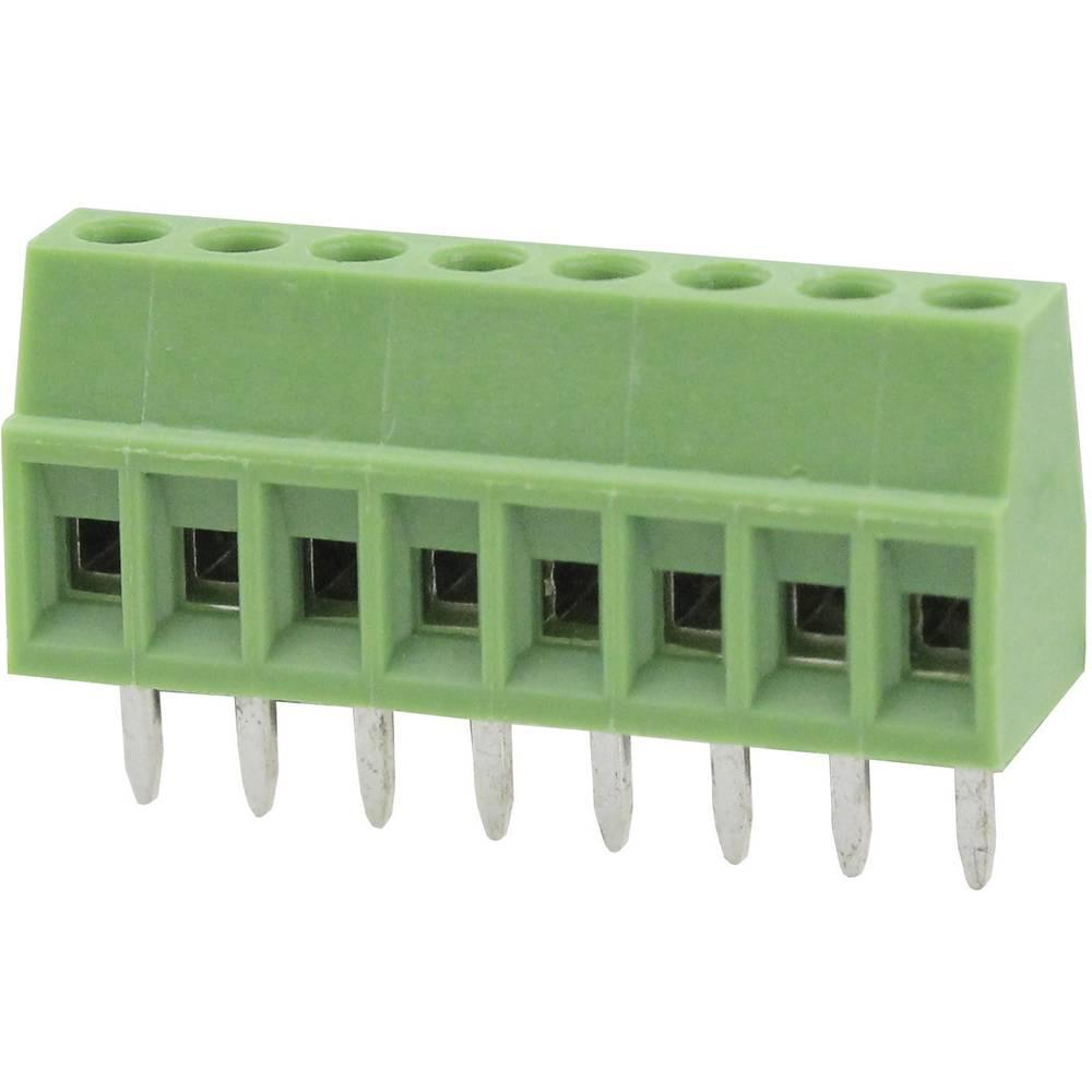 Skrueklemmeblok Degson DG308-2.54-08P-14-00AH 0.82 mm² Poltal 8 Grøn 1 stk