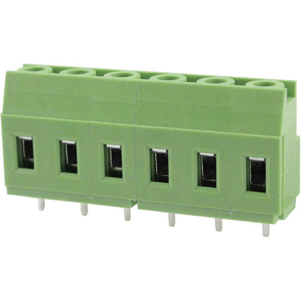 Skrueklemmeblok Degson DG129-7.62-03P-14-00AH 3.31 mm² Poltal 3 Grøn 1 stk