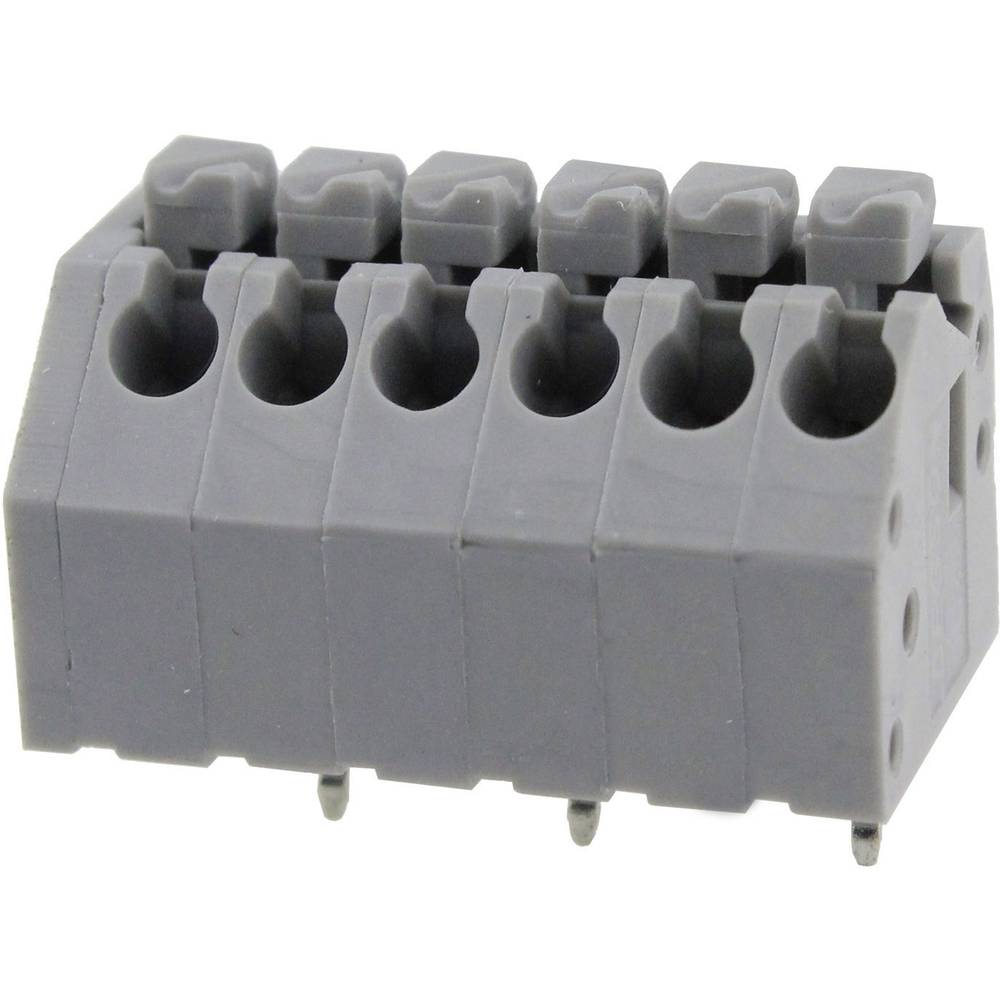 Fjederkraftsklemmeblok Degson DG250-3.5-06P-11-00AH 0.82 mm² Poltal 6 Grå 1 stk