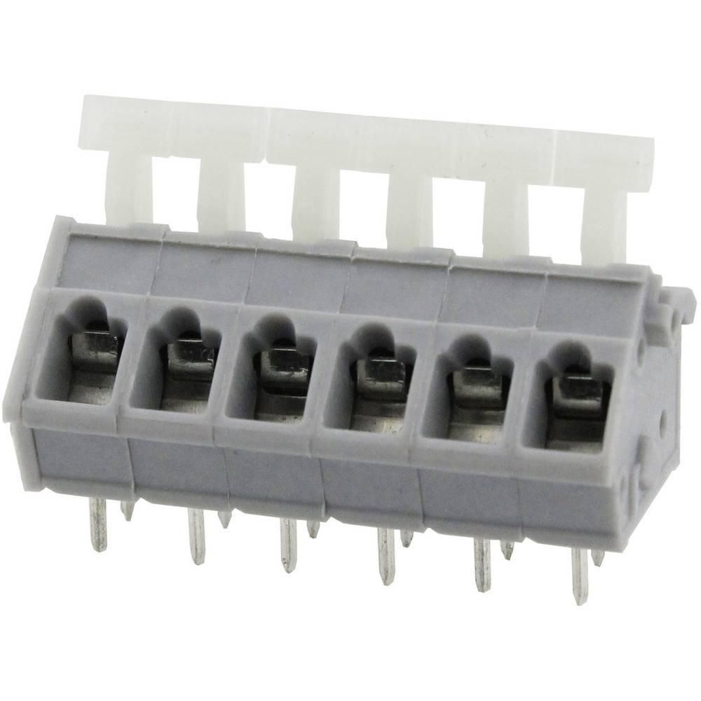 Fjederkraftsklemmeblok Degson DG243-5.0-02P-11-00AH 3.31 mm² Poltal 2 Grå 1 stk