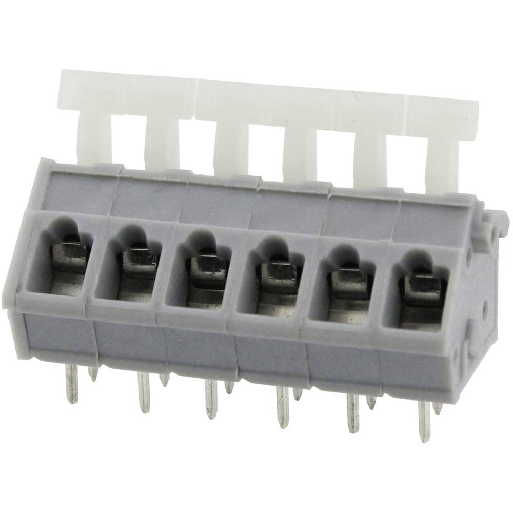Fjederkraftsklemmeblok Degson DG243-5.0-08P-11-00AH 3.31 mm² Poltal 8 Grå 1 stk