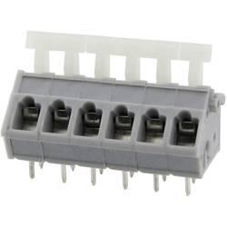 Fjederkraftsklemmeblok Degson 3.31 mm² Poltal 10 Grå 25 stk