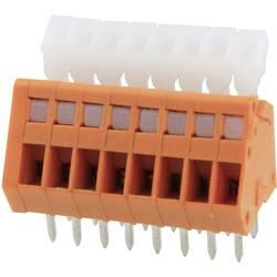 Fjederkraftsklemmeblok Degson DG240-2.54-08P-15-00AH 0.51 mm² Poltal 8 Orange 1 stk