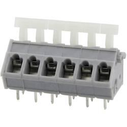 Fjederkraftsklemmeblok Degson 3.31 mm² Poltal 12 Grå 25 stk