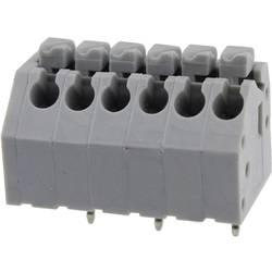 Fjederkraftsklemmeblok Degson DG250-3.5-03P-11-01AH 0.82 mm² Poltal 3 Grå 1 stk