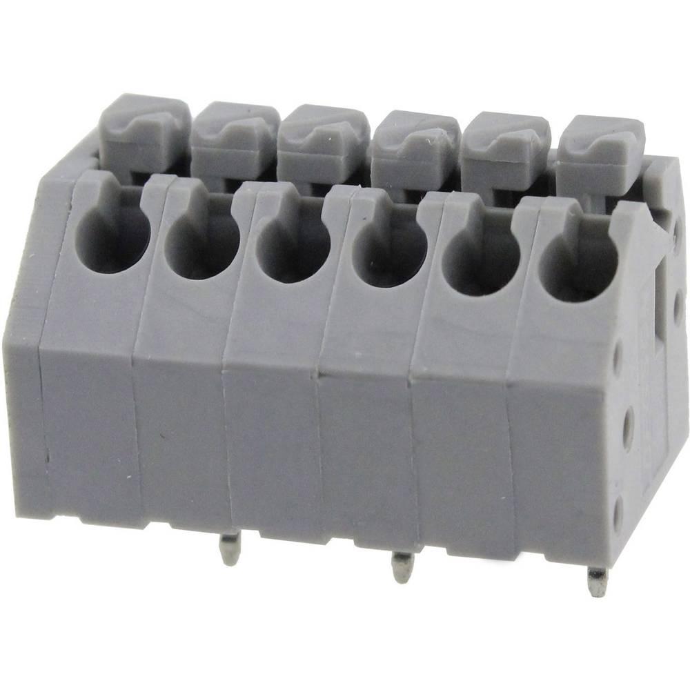 Fjederkraftsklemmeblok Degson DG250-3.5-08P-11-00AH 0.82 mm² Poltal 8 Grå 1 stk