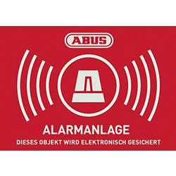 Opozorilna nalepka Alarmni sistem Jeziki Nemški (Š x V) 148 mm x 105 mm ABUS AU1422