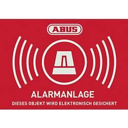 Opozorilna nalepka Alarmni sistem Jeziki Nemški (Š x V) 74 mm x 52.5 mm ABUS AU1423