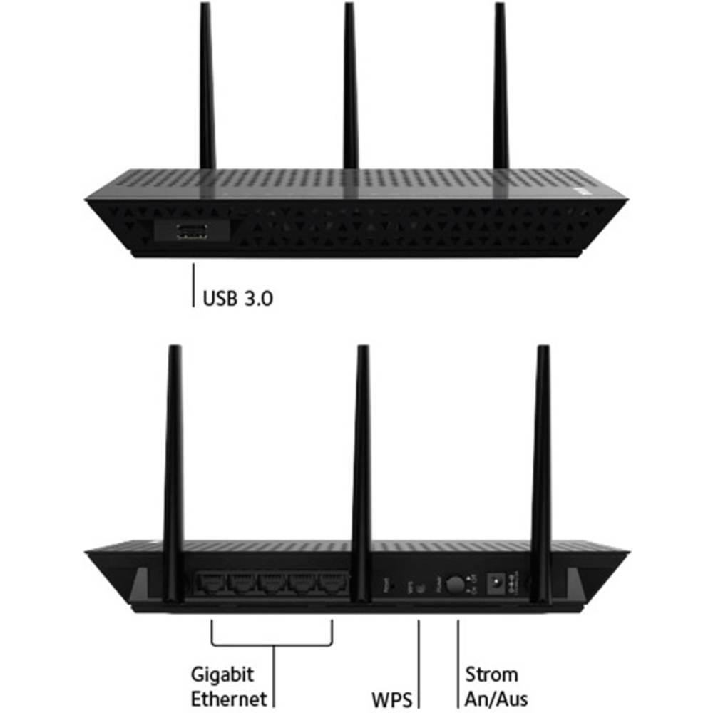 Netgear EX7000 ojačevalnik WLAN-signala 1.9 Gbit/s 2.4 GHz, 5 GHz