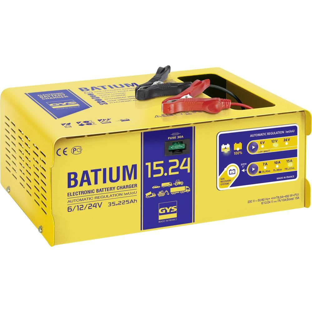 Automatisk oplader GYS BATIUM 15.24 024526 6 V, 12 V, 24 V 22 A 22 A