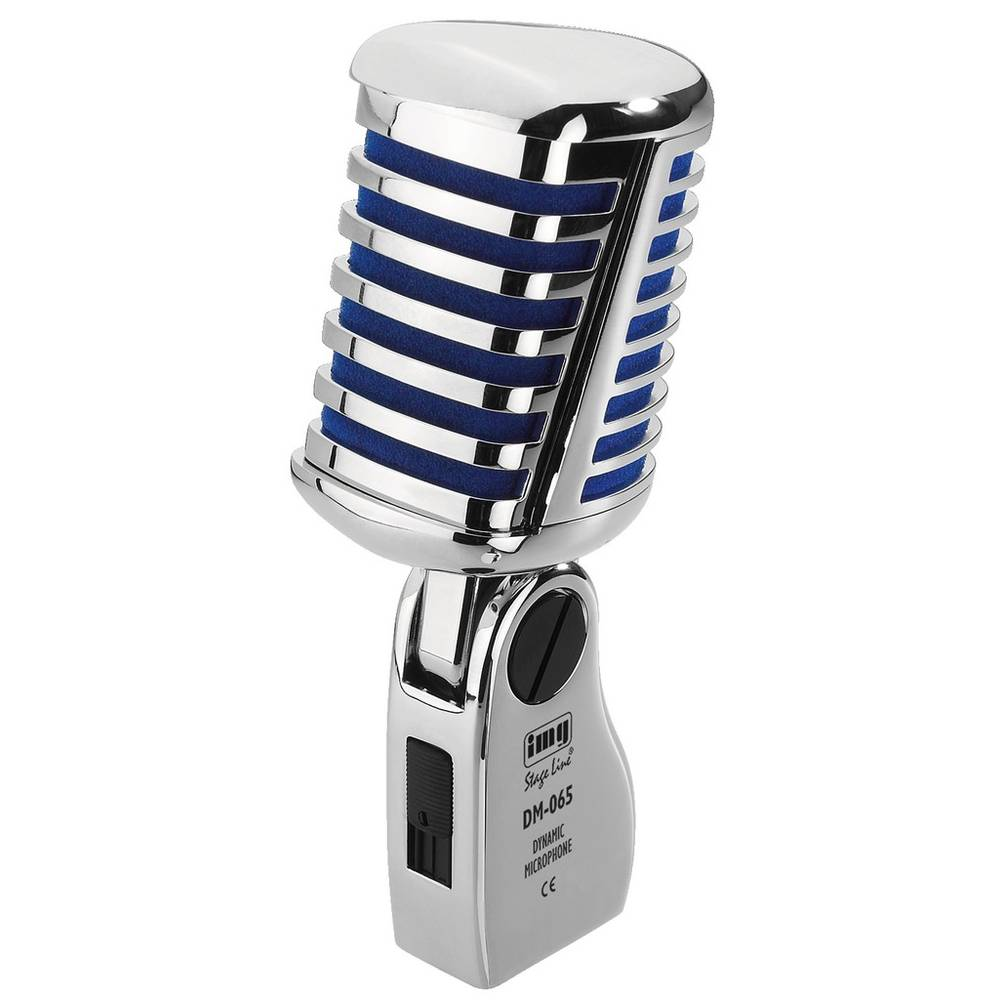 Pevski mikrofon IMG Stage Line DM-065 prenos:s kablom kovinsko ohišje, stikalo