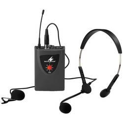 Naglavni komplet govorni mikrofon Monacor TXA-100HSE prenos:brezžični, stikalo