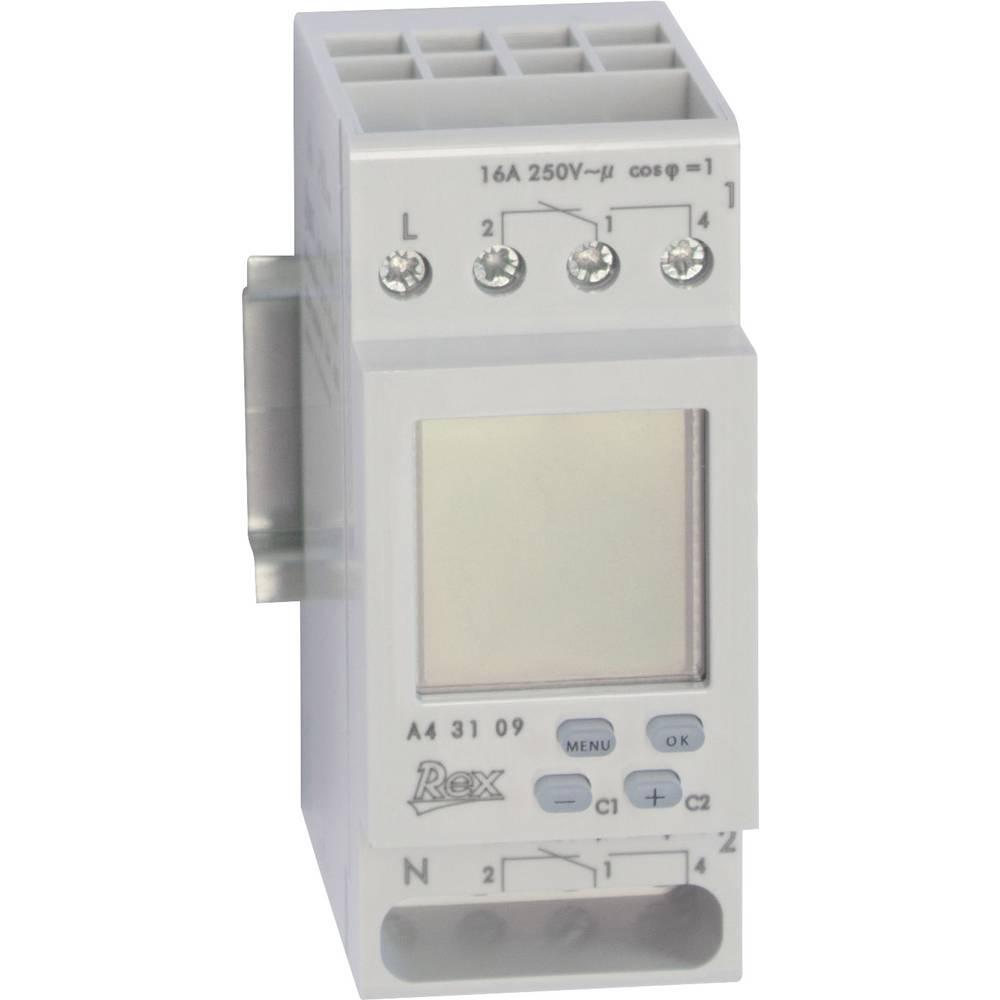 Časovna stikalna ura za namestitev na vodila REX, 230 V, A43109