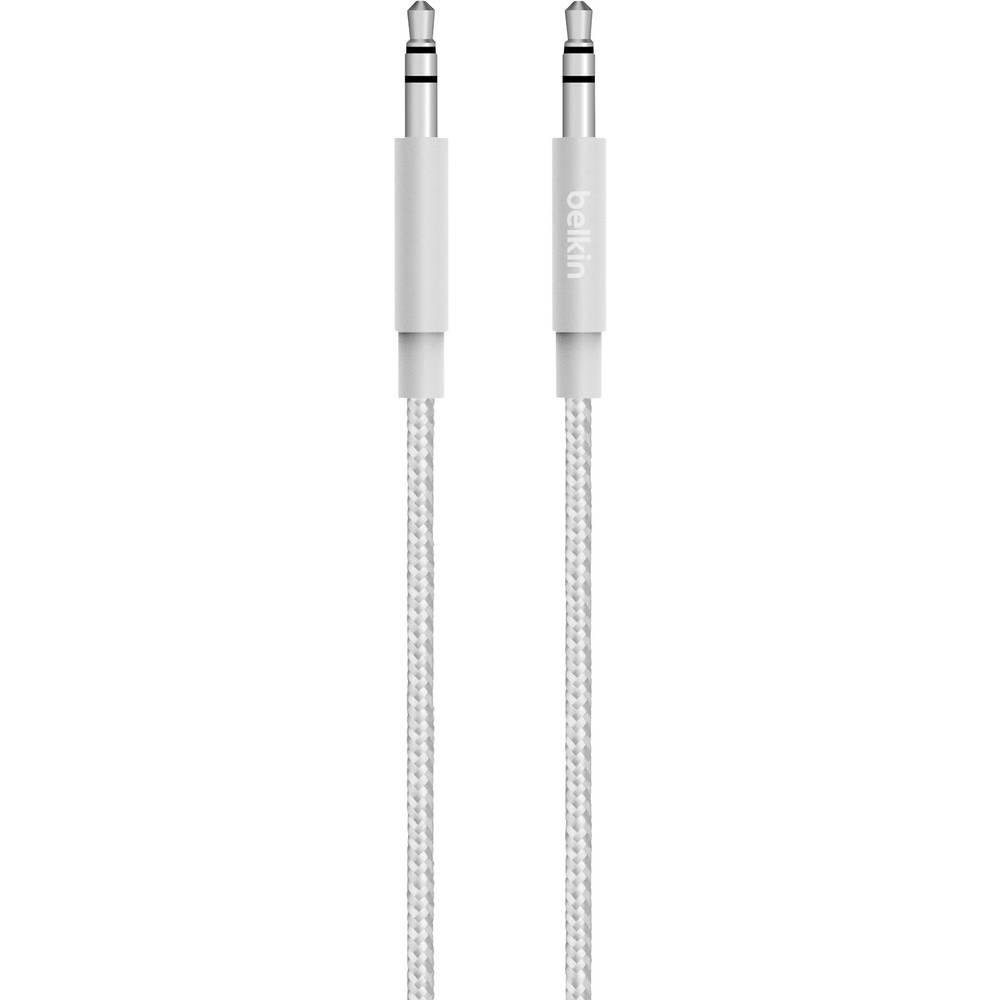 Klinken avdio priključni kabel [1x klinken vtič 3.5 mm - 1x klinken vtič 3.5 mm] 1.20 m srebrne barve Belkin