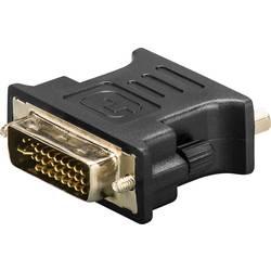 DVI / VGA adapter [1x DVI-vtič 24+5pol. => 1x VGA-vtičnica] črn pozlačeni kontakti Goobay