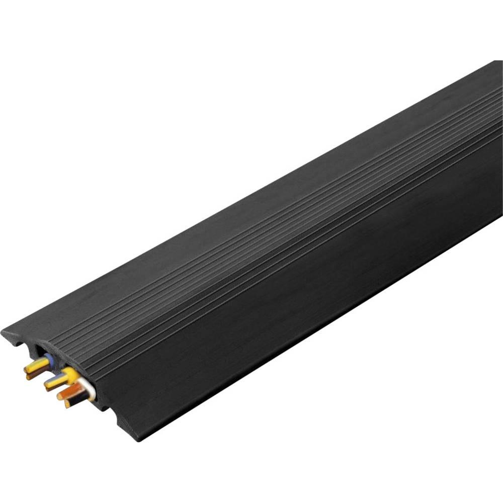 Talna zaščita za kable Cable Safe Serie RO (D x Š x V) 3000 x 88 x 14 mm črna Vulcascot vsebina: 1 kos