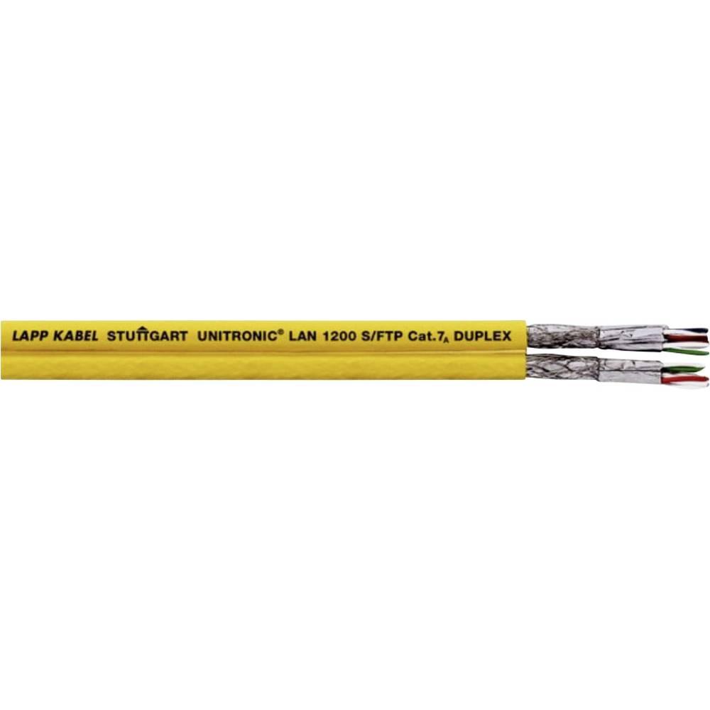 Omrežni kabel CAT 7a S/FTP 4 x 2 x 0.33 mm rumene barve LappKabel 2170618 100 m