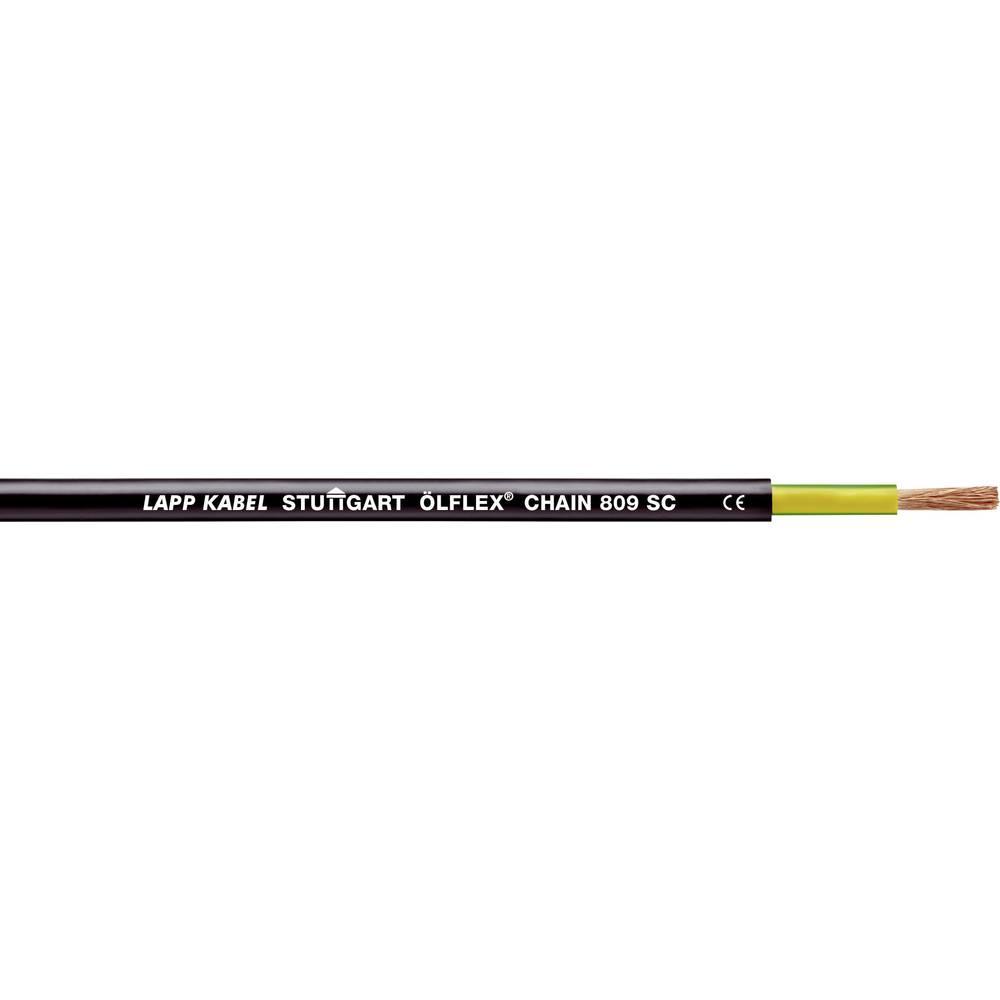 Energijski kabel ÖLFLEX® CHAIN 809 SC 1 x 6 mm črne barve LappKabel 1062901 500 m