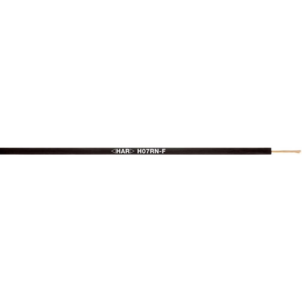 Priključni vodič H07RN-F 4 G 6 mm crne boje LappKabel 4533069 500 m