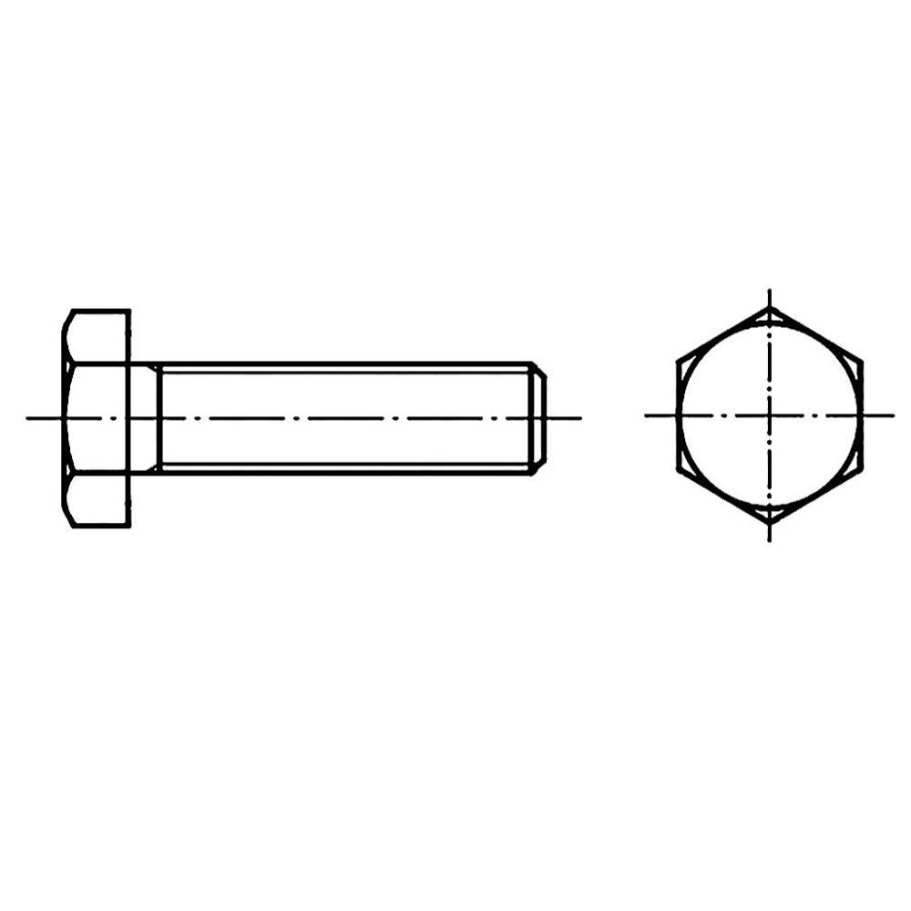 Sexkantsskruvar TOOLCRAFT M12 20 mm Yttersexkant DIN 961 Stål 100 st