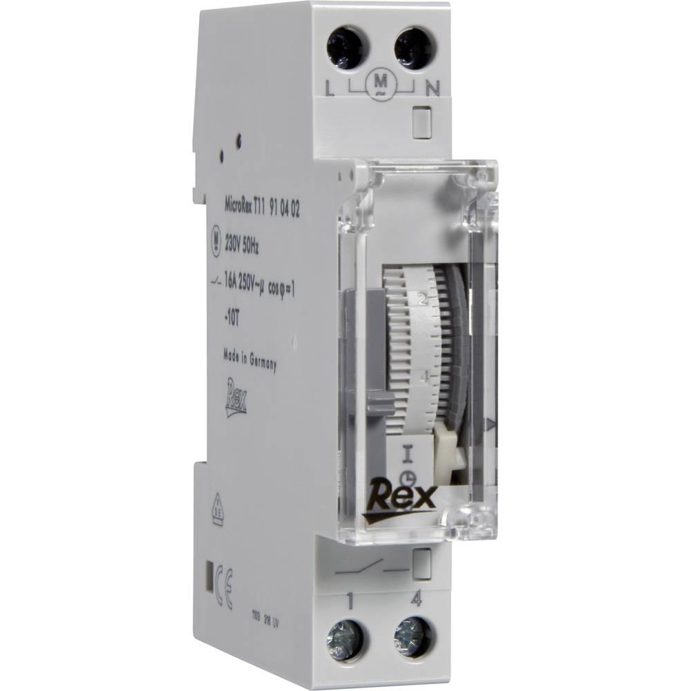 Časovna stikalna ura za namestitev na vodila REX, 230 V, 16 A/250 V, 910402