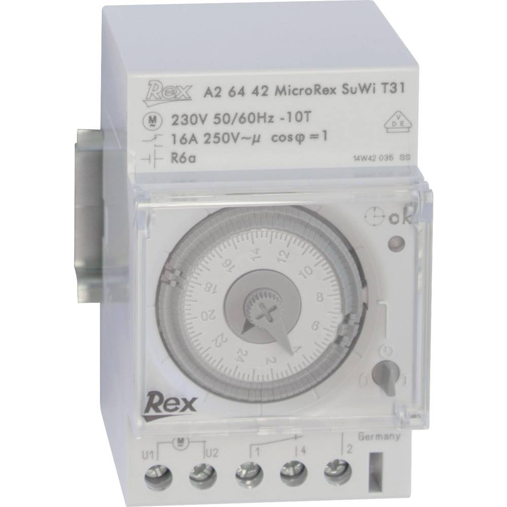 Časovna stikalna ura za namestitev na vodila, 230 V, 16 A/250 V, A26442