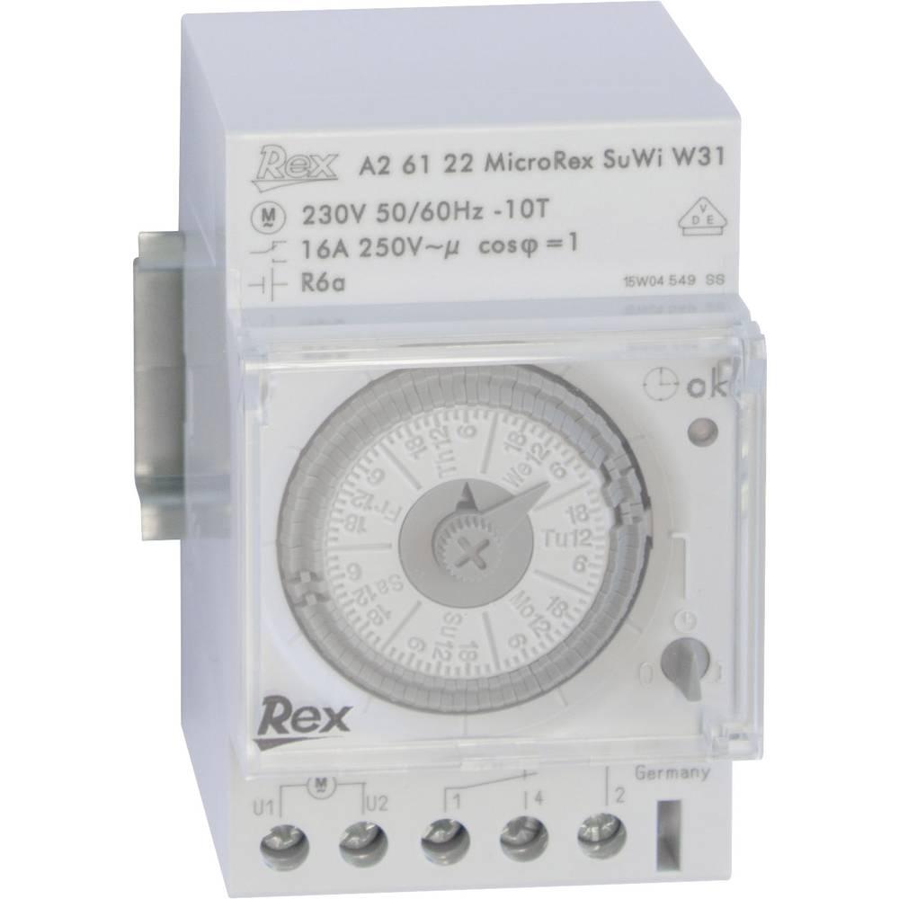 Vremenski prekidač za DIN šine REX Vremenski prekidači A26122 230 V 16 A/250 V