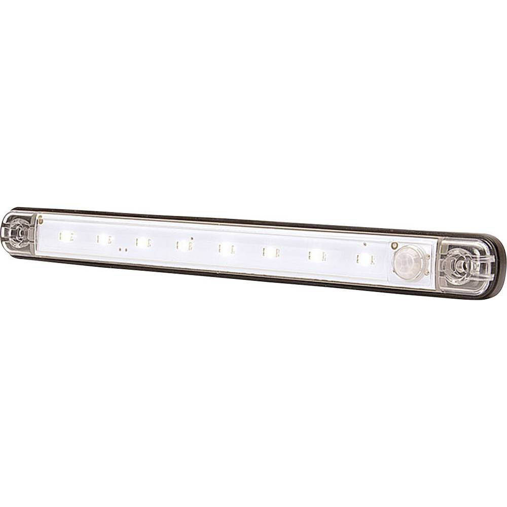 LED-kabinelys 12 V Højeffektive LED-lys (B x H x T) 238 x 25 x 10.4 mm Bevægelsesalarm, Tændes automatisk SecoRüt 957728